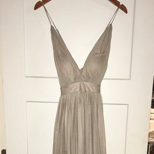Taupe gown size 4